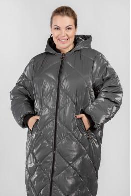 Пальто PL25233GRY23 серый