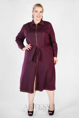 Платье PP38206PUR55 баклажан