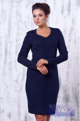 Платье 2183 т.синий