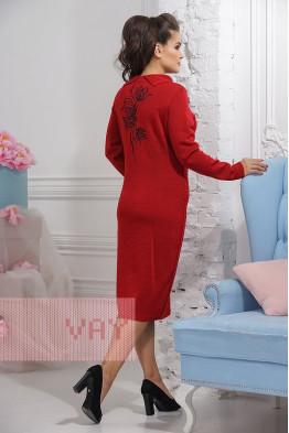 Платье 2293 кармин/т.антацит