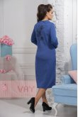 Платье 2293 кобальт/т.антацит