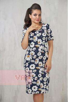 Платье 3271 ромашки/т.синий