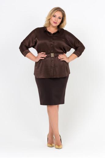 Блузка Шоколад (коричневый)