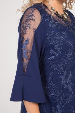 Платье 1002 темно синий