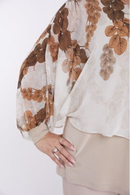 Блузка 1004 бежевый