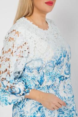 Блузка 1040 голубой