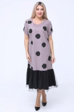 Платье 1051 серый