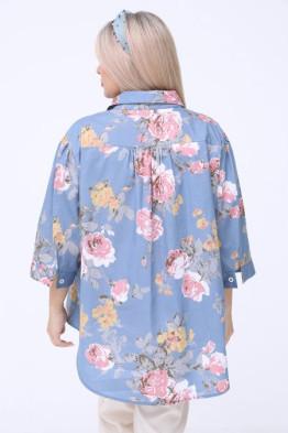 Рубашка 1059 голубой