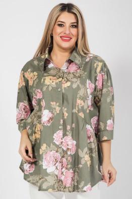 Рубашка 1059 зеленый