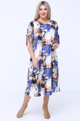 Платье 1081 голубой