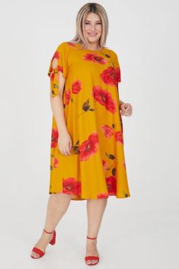 Платье 1199 оранжевый