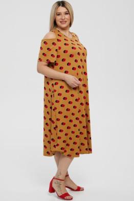 Платье 1216 горчичный