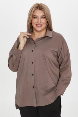 Рубашка 1222 коричневый
