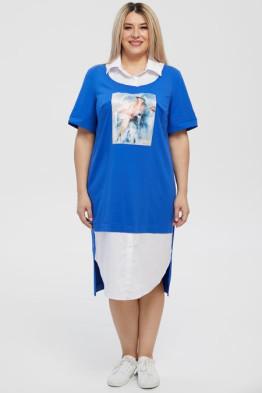 Платье 1231 сине-белый