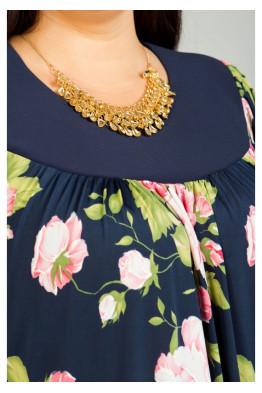 Платье 355 (цветы на синем)