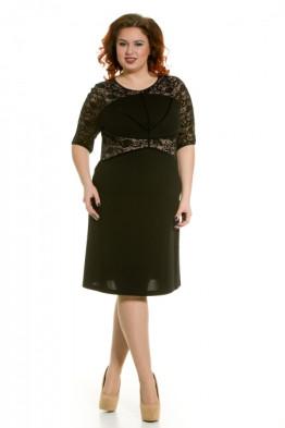 Платье 372 (шарм черный)