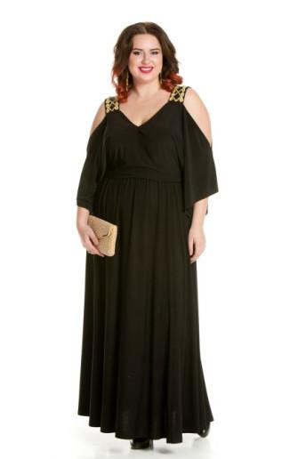 Платье 657 черный