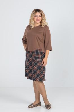 Платье 935 (коричневый)