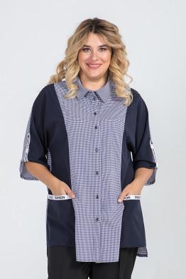 Рубашка 982 (темно синий)
