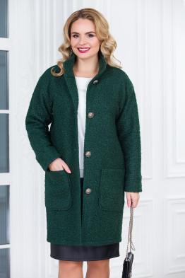 Пальто Мариса (темно зеленый)
