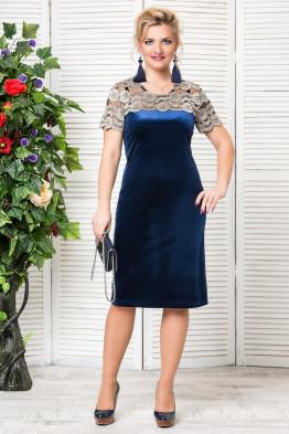 Платье Катрин (синий)