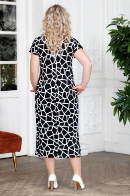 Платье Афелия (черный/квадраты)