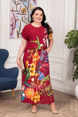 Платье Лилиана (бордо)