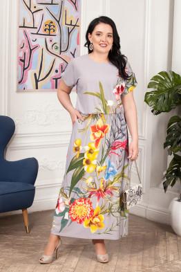 Платье Лилиана (светло серый)