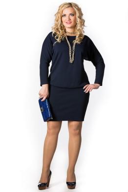Платье Мадонна (темно-синий)