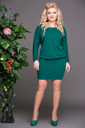 Платье Мадонна (зеленый)