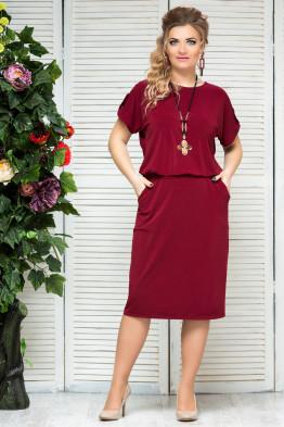 Платье Сильвия (бордо)