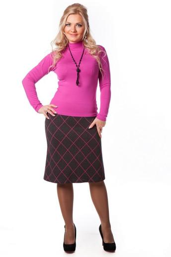 Юбка Шотландка (розовый)