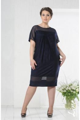 Платье Монреаль (темно-синий)