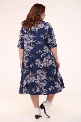 Платье Анелия (синий/серый)