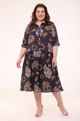 Платье Анелия (темно коричневый)
