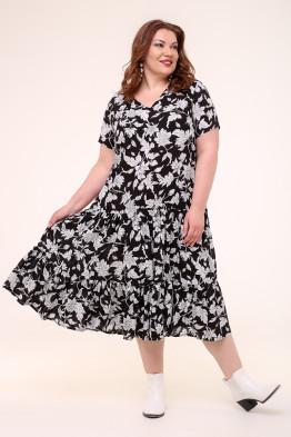Платье Виктория (черный/серый)