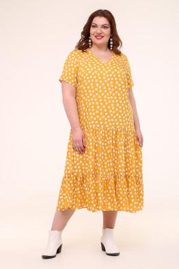 Платье Виктория (горох/желтый)