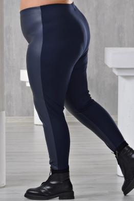Лосины Кожа (синий)