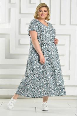 Платье Афина (светло-зеленый/белый)