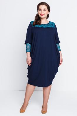 Платье Алана (синий темный)