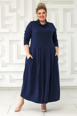 Платье Ангорка-2 (синий)