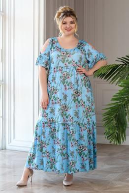 Платье Лилия (голубой)