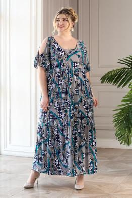 Платье Лилия (ремни/бирюза)