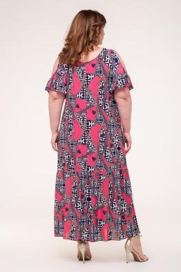 Платье Лилия (ремни/коралл)