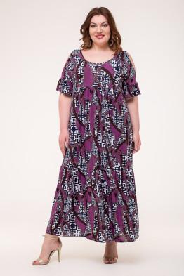 Платье Лилия (ремни/сирень)