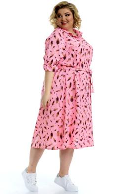 Платье Мальдивы (розовый/перья)