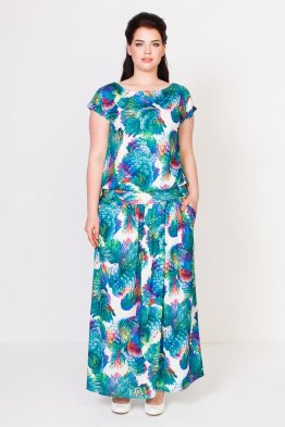 Платье Тиффани (волны бирюза)