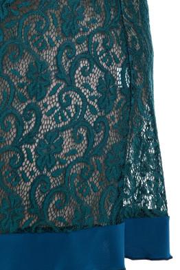 Сорочка Кружево (зеленый)