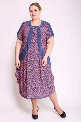 Платье Алевтина (розовый)