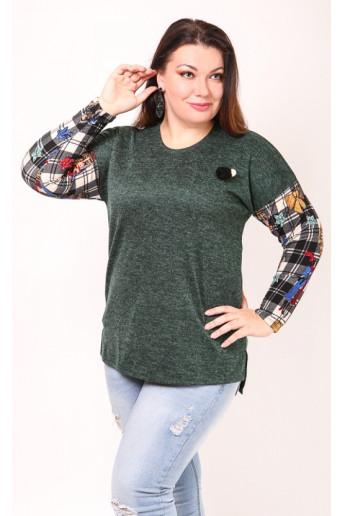 Блузка Агата (зеленый)
